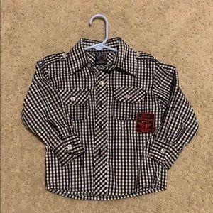 Toddler Boys Plaid Dress shirt